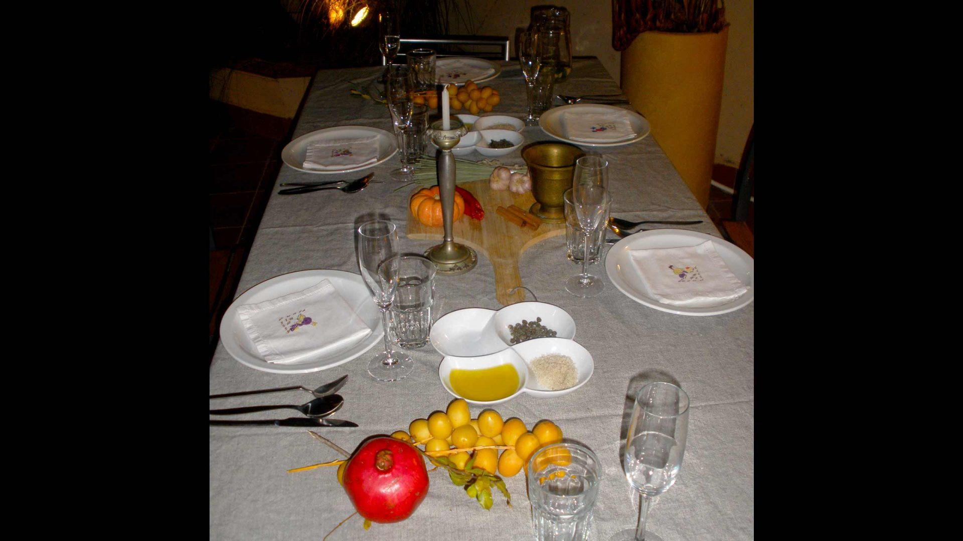השולחן ארוחת לא על הלחם לבדו