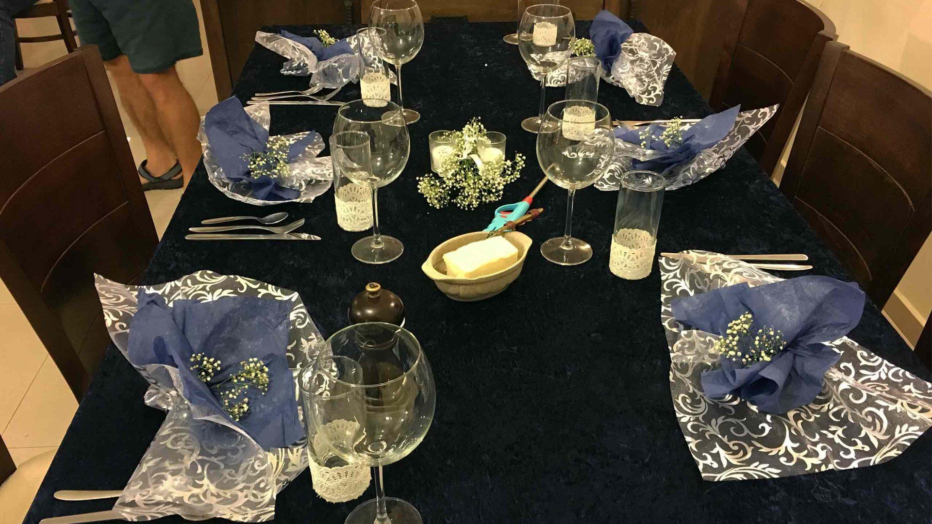 עיצוב השולחן