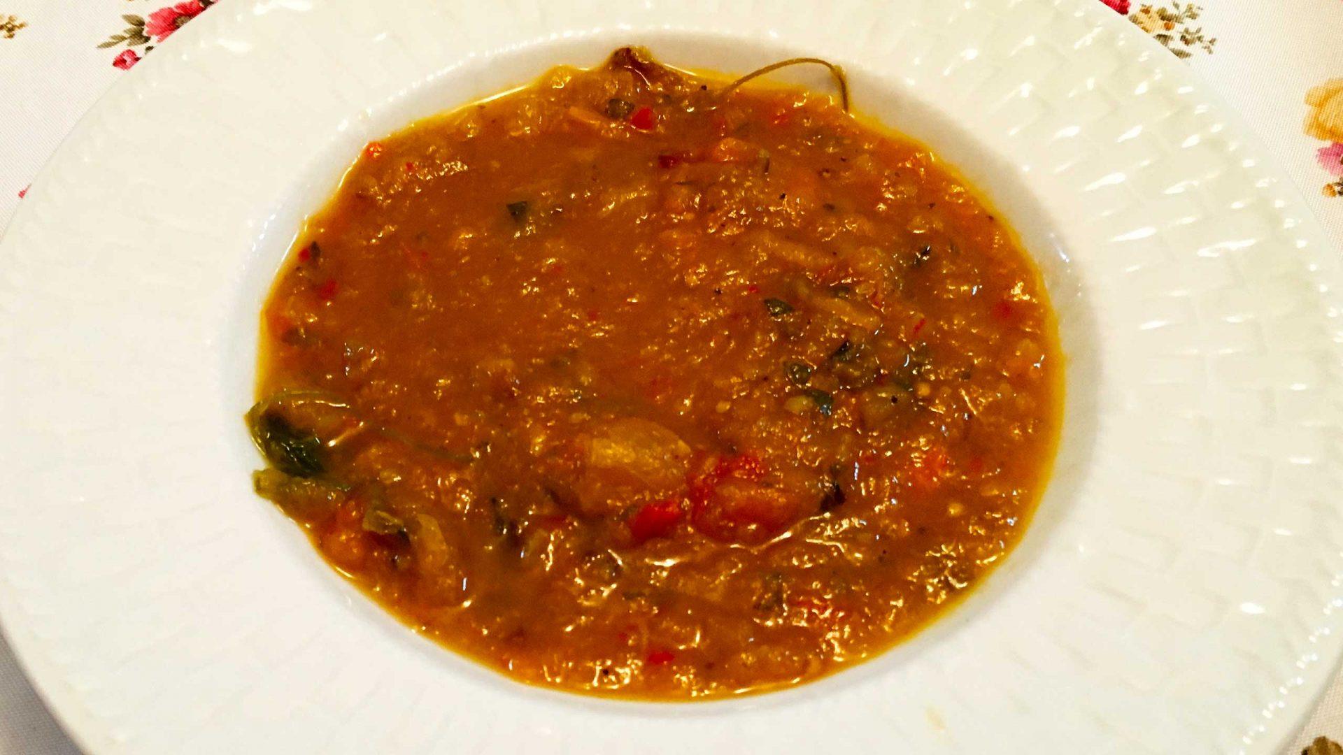 מרק ירקות קלויים בתנור