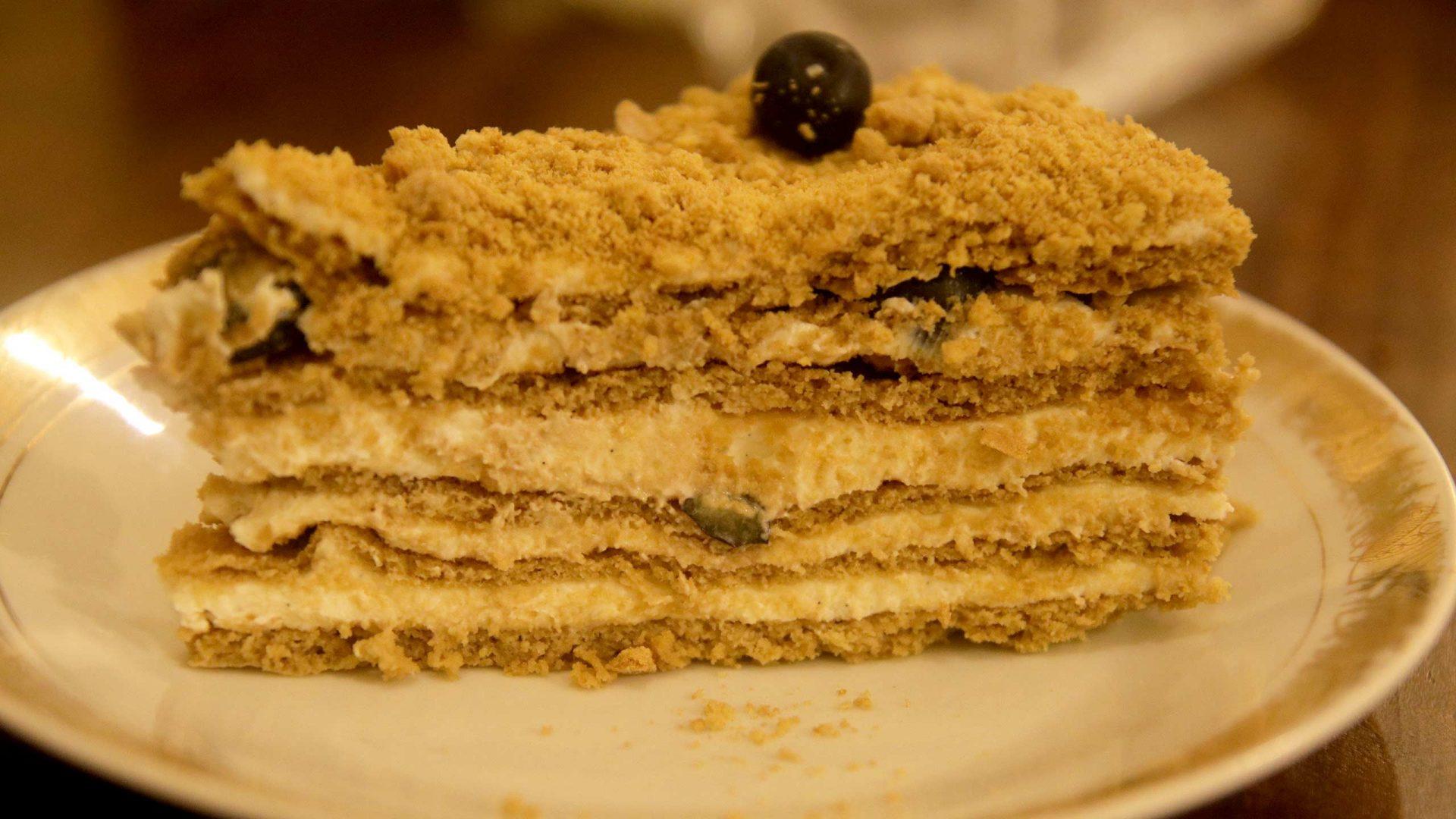 עוגת שכבות דבש
